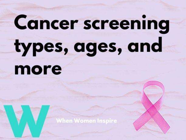 Cancer screening types