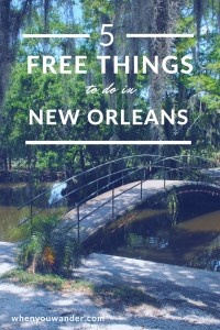 Make your budget travel adventures go further with these 5 free things to do in New Orleans.