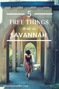 Find out how to live it up on a budget in the south with these 5 free things to do in Savannah, Georgia.