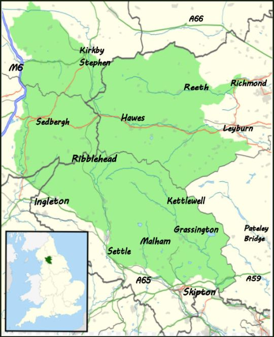 Map Of Yorkshire About the Yorkshire Dales   Where2Walk Where2Walk Map Of Yorkshire