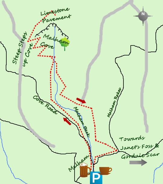 Malham Cove map