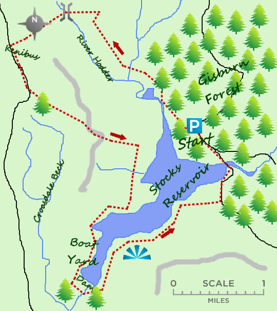 Stocks Reservoir map