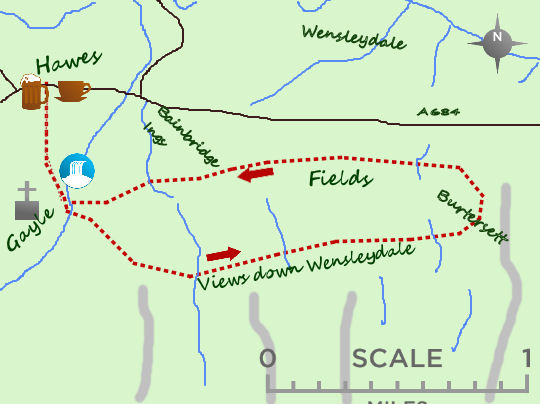 Wensleydale Highway map