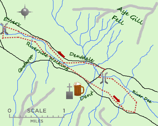 Dentdale map