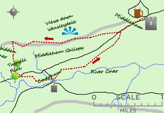 Middleham map