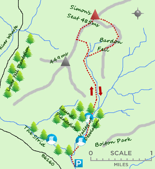 Simon's Seat map