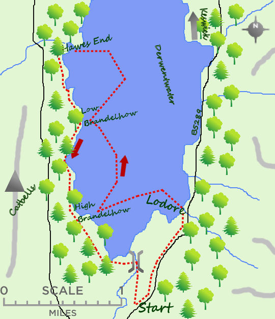 Derwentwater map