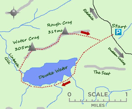 Devoke Water map