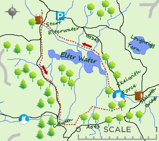 Elterwater map