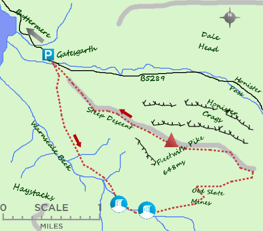 Fleetwith Pike map