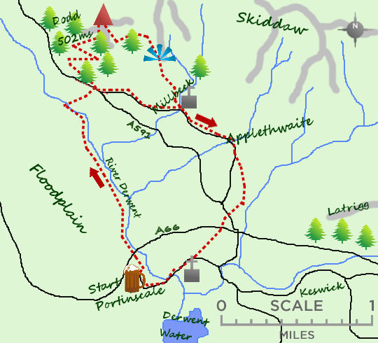Dodd & Allerdale Ramble map