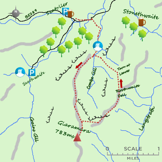 Glaramara map