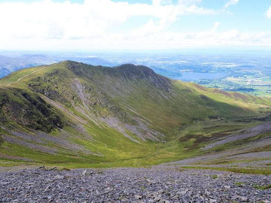 Ullock Pike ridge from Skiddaw upper slopes