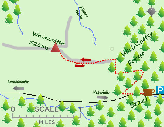 Whinlatter map