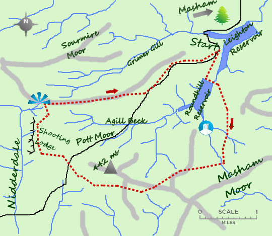 High Moors of Masham map