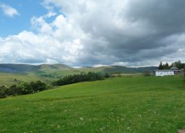 Howgills from Rawthey Bridge