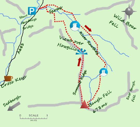 Baugh Fell map