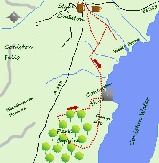 Coniston Hall map