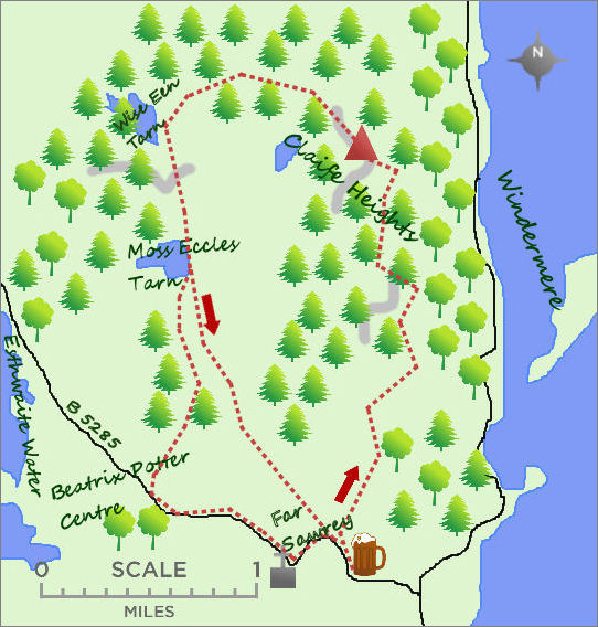 Beatrix Potter walk map