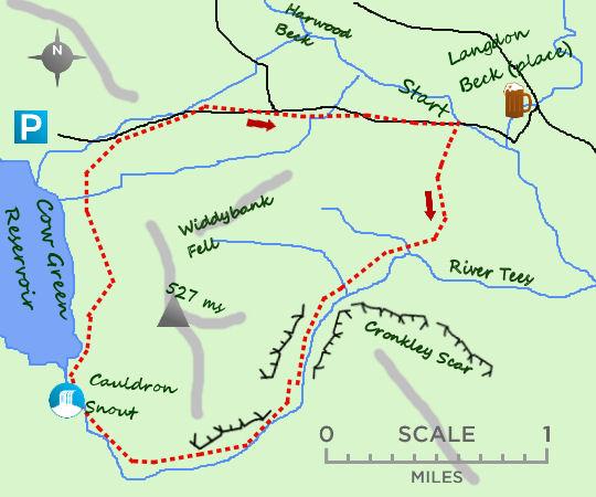 Cow Green Reservoir map