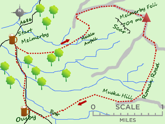 Melmerby Fell map