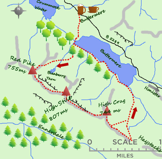 Buttermere Round map