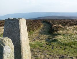 Trigpoint above Carlton Bank