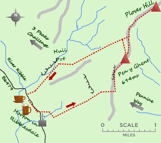 Pen y Ghent map