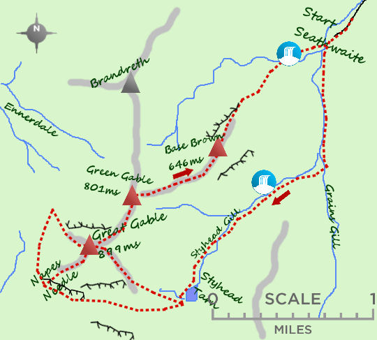 Great Gable map