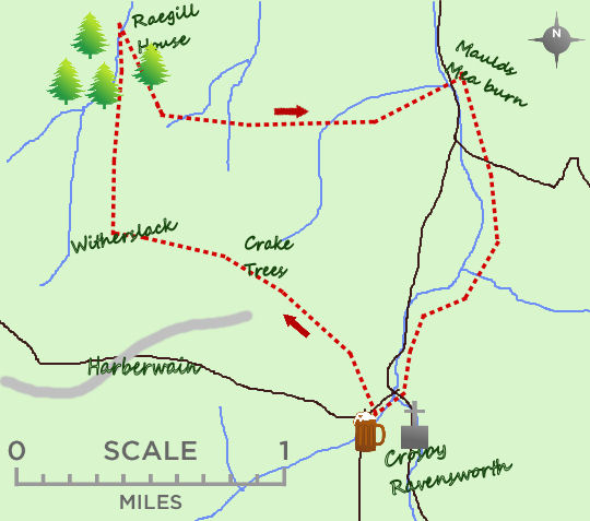 River Lyvennet villages map