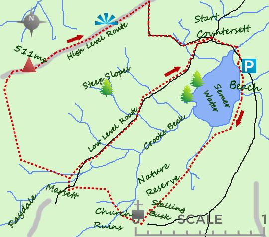 Semer Water map