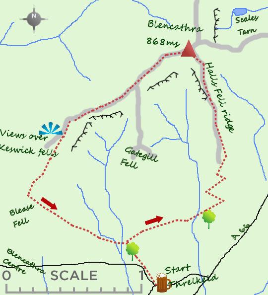 Blencathra map