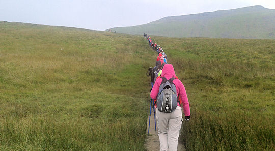 Approaching Ingleborough
