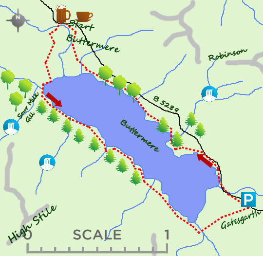 Buttermere map