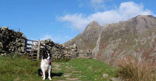 Mist and the Langdale Pikes