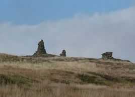 Tall cairns on Fountains Fell