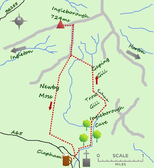 Ingleborough map