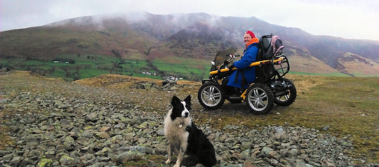 Debbie Old Coach Road & Blencathra