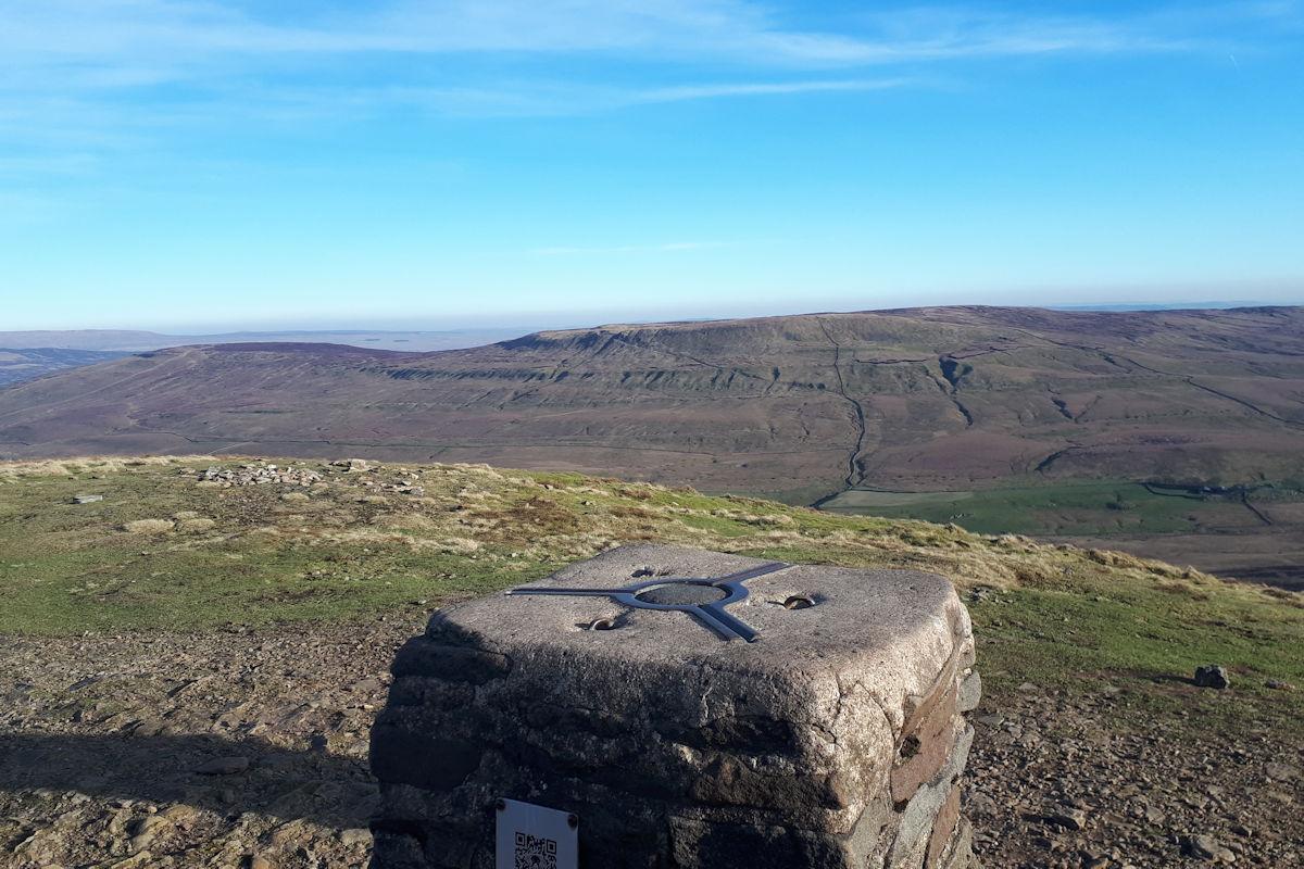 Summit trig looking towards Fountain's Fell