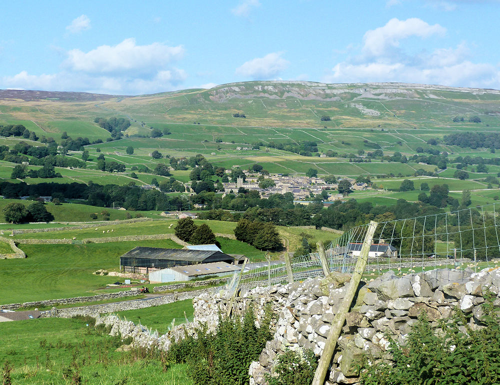 Bainridge looking over to Askrigg