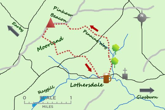 Lothersdale map