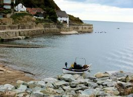 Fishing boat at Runswick Bay