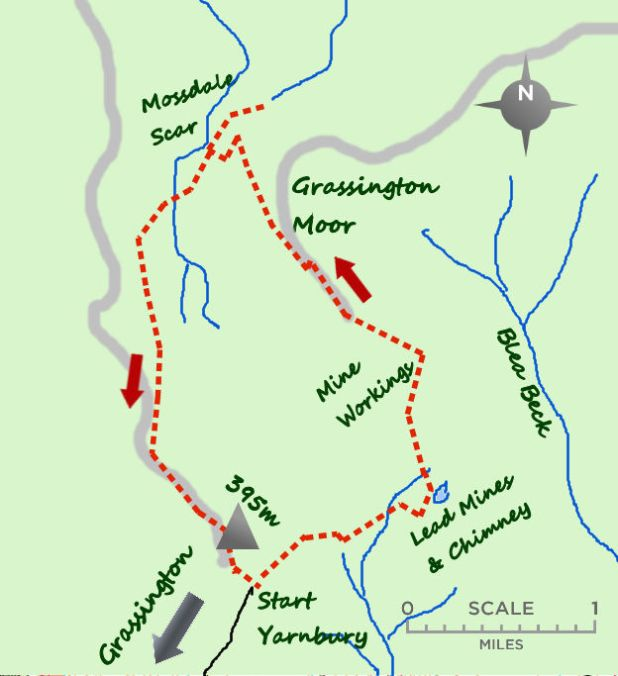 Grassington Moor map