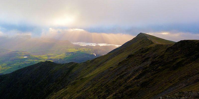 Looking west along the summit ridge