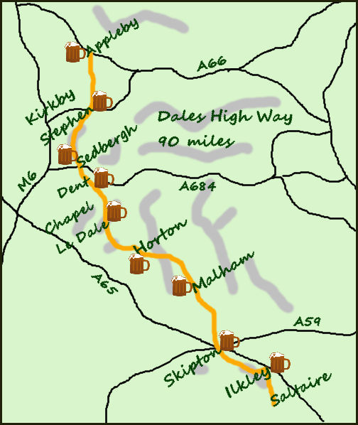 Dales High Way map