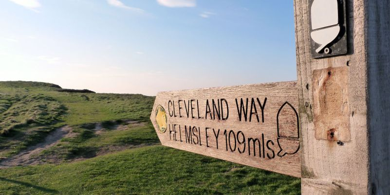 End (or start) of the Cleveland Way