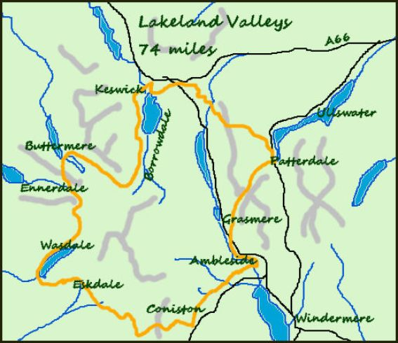 Lakeland Valleys map