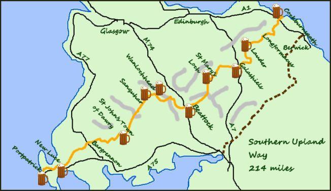 Southern Upland Way map
