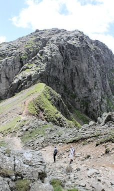 Over Mickledore to Scafell