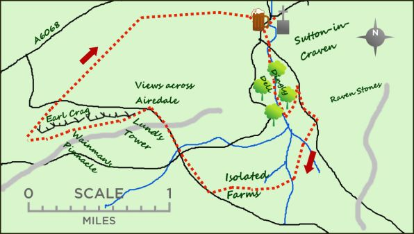 Sutton in Craven map